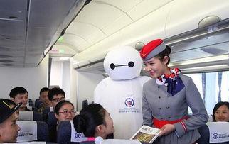 空姐化身大白在机舱内暖心服务