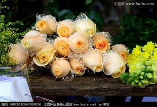 香槟玫瑰黄玫瑰花束