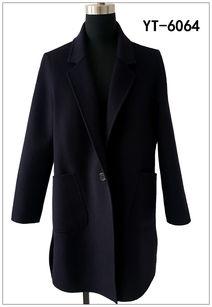 双面羊毛大衣图