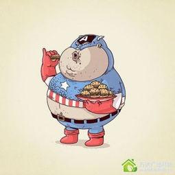 胖子的十大错觉 卡通人物 也变成超级大吃货了