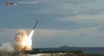 越海军发射extra火箭弹.
