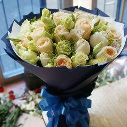 玫瑰圆形花束的制作方法