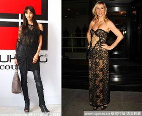 林志玲黑色蕾丝装帅气性感