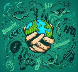 保护环境 卡通海报