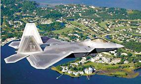 资料图:美军f-22战机