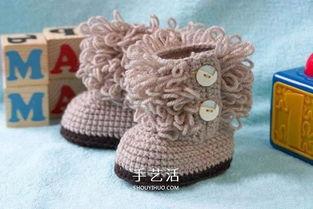 钩针编织宝宝鞋教程