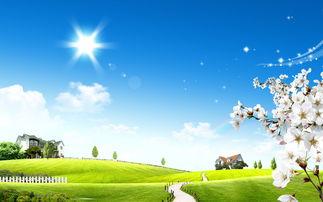 童话般的夏日风景壁纸