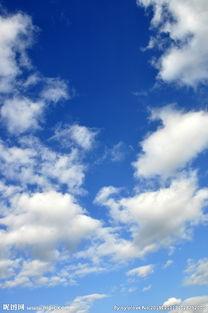 干净的天空图片