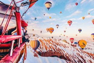 童话里的热气球土耳其卡帕多西亚