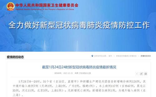 1月24日31省区市新增确诊124例本土117例