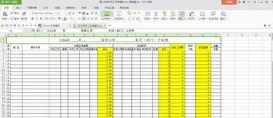 车间专用工资表模板excel格式