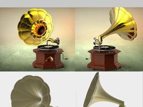 留声机3D模型设计图下载 图片7.33MB 其他模型库 其他模型