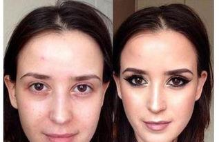 女人化妆前后为什么