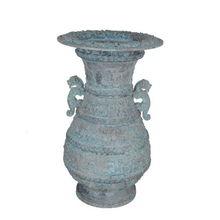 金属工艺品虎耳蟠龙纹壶仿古青铜器