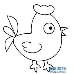 幼儿简笔画大公鸡图片