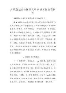 2017文明乡镇自查报告