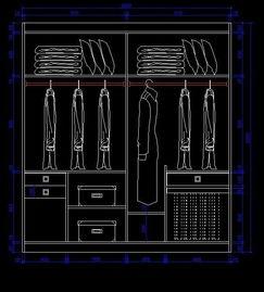 夫妻分开设计的衣柜