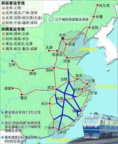 """中国高速铁路网""""四纵""""是哪四条高铁线路"""