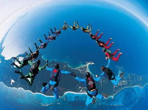 极限运动跳伞图片
