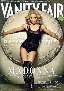 麦当娜紧身短裤登 名利场 封面