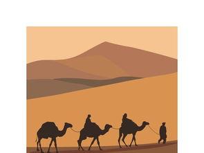 丝绸之路古丝路矢量素材出使西域