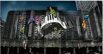 上海音乐谷水幕激光唱主角