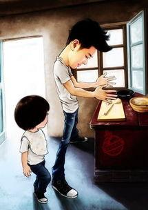 《爸爸去哪儿》q版漫画