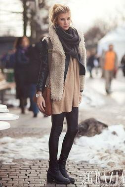 让温暖和时髦都加倍 冬日出街靠针织厚围巾