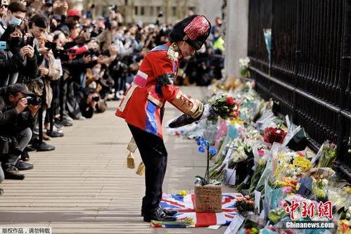 英国民众悼念菲利普亲王