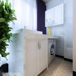 阳台放洗衣机养花的装修