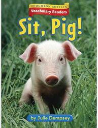 少儿英语学单词原版书一年级第3本 Sit, Pig 小猪坐下