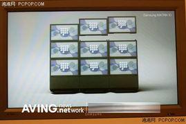 分辨率无限增加 三星打造矩阵电视墙