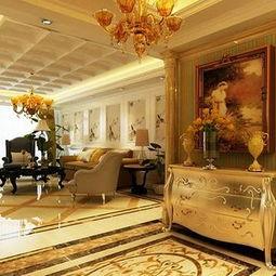 简欧风格酒店过道地面拼花简欧风格壁灯效果图