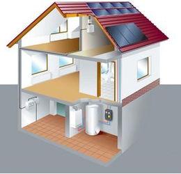 挂壁式太阳能热水器(种壁挂式太阳能挺适合)