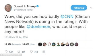 假新闻特朗普发飙怒怼我哪有每天看8小时电视