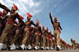 印度军人。
