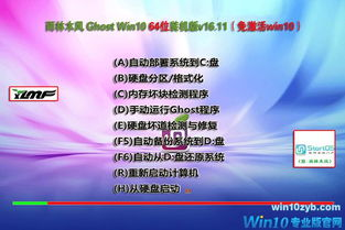 雨林木风windows10破解版64位专业版下载图1-win10专业版系统下载 ...