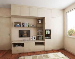 卧室衣柜带电视柜