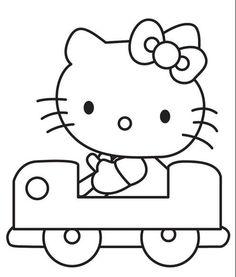 超萌可爱凯蒂猫卡通简笔画图片大全 2
