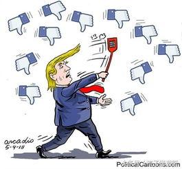 ▲【差评如潮】美国总统特朗普上任以来在世界范围内到处攻击,四面树敌,成为不受欢迎的人.
