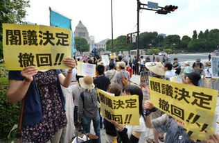 日本民众示威要求安倍内阁撤销解禁集体自卫权