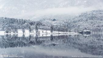 雪中山谷图片