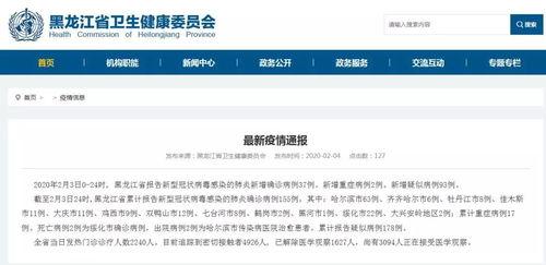 黑龙江新增境外输入确诊病例4例省内新增确诊病例3例