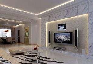 时尚 气 最新客厅电视背景墙效果赏
