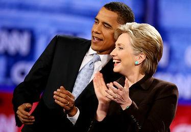 奥巴马与希拉里