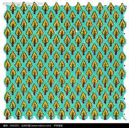 黄色叶子列阵布纹 -黄色叶子列阵布纹图片免费下载 红动网