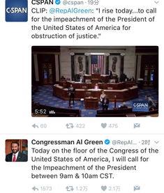 美国会议员呼吁弹劾特朗普他妨碍司法公正